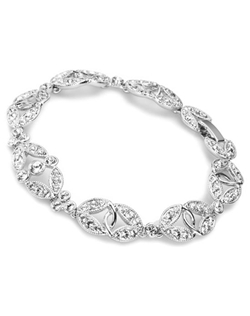 Add a touch of bling every where you can, especially on your wrist. This bracelet gets the job done with its abundance of crystals. Measures 7.25""