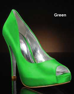 Shades of green shoe dye