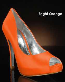 Shades of Orange shoe dye