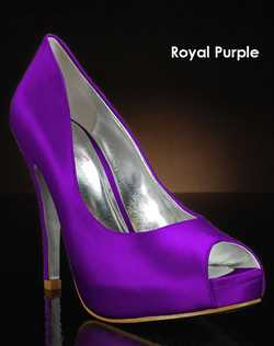 Shades of Purple shoe dye