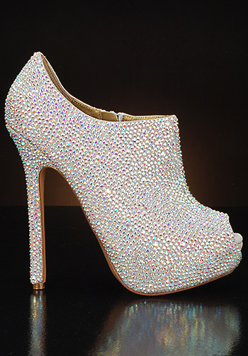 Sparkly Wedding Shoes By My Glass Slipper Las Vegas By
