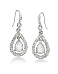 The Kate Crystal Teardrop Pierced Earrings