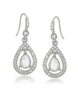 The Kate Crystal Teardrop Pierced Earrings
