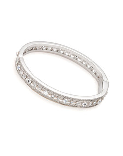 The Ava Deco Crystal Hinged Bangle Bracelet