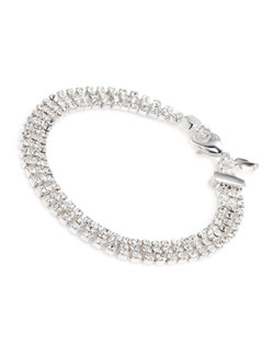 The Shelly Three Row Crystal Bracelet