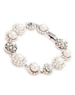 The Rachel Pearl and Crystal Bracelet