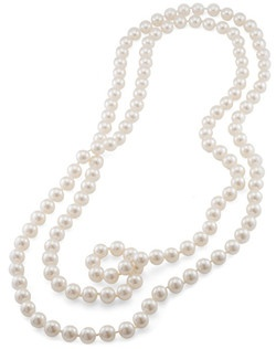 The Jacqueline 72 Inch 10mm White Pearl Rope Necklace