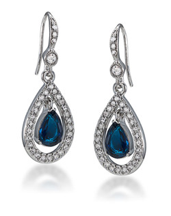 The Bonnie Blue Crystal Teardrop Pierced Earrings