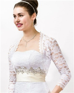 This White Lace Bolero Jacket with medium sleeve is elegant and classic, perfect match to your bridemaid dress or evening party dress, popular item for Spring & Summer Occasion or Wedding