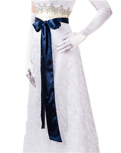 "Bridal Sash Belt made from, Navy Blue, 3"" Wide Double Faced High Quality Treated ends-no fraying! Excellent quality Rich, luminous color