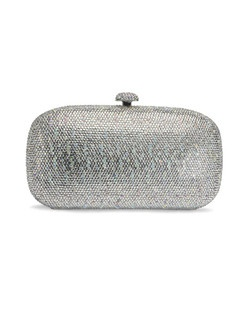 The Benjamin Adams Brook Handbag is a stunning work of art. The solid hard case design is encrusted in sparkling crystal accents that catch the light with every movement. The Brooke Handbag measures 7.5 X 4.