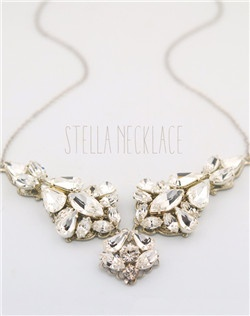 Handmade Swarovski crystal necklace, available in silver or gold.  Free custom sizing.