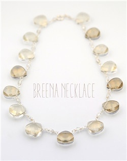Handmade Swarovski crystal briolette stone necklace, available in silver or gold with your choice of crystal colors.  Free custom sizing.