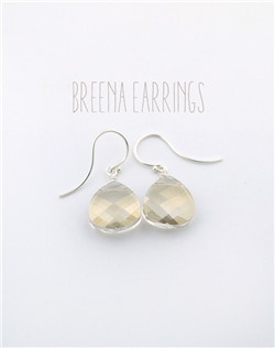 Handmade Swarovski crystal briolette stone earrings, available in silver or gold and your choice of crystal color.