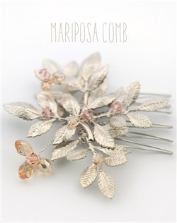Handmade Swarovski crystal hair comb, available in silver or gold with your choice of crystal colors.  Mix and match for a completely custom design.