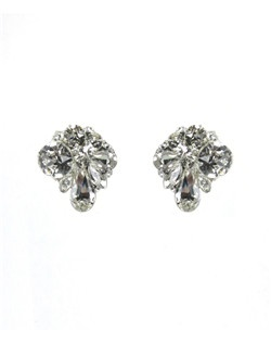 "These Swarovski stud earrings are the perfect size to add sparkle and glamour without being ""too much"". Perfect with a larger headpiece or with a large cuff bracelet or necklace!"
