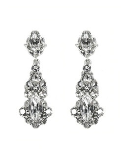 One of the Bella Bleu favorite's this season! These earrings are stunning! A tulip shaped post is just the beginning of these Swarovski crystal sparklers! Round shaped crystals surround navette stones set on silver filigree.