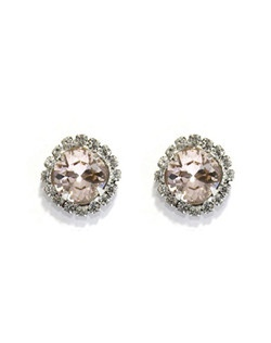 These Silk Swarovski cushion cut studs are a classic must have for the jewelry box! Silk Swarovski crystal is a gorgeous champagne/blush color that compliments ivory, champagne and blush gowns beautifully! A great gift for brides, bridesmaids, and mother of the bride! Available in several colors! Please select from clear, vintage rose, gold shadow, silk, sky, white opal, pacific opal, amethyst, antique pink, light azore, blue opal, or violet.