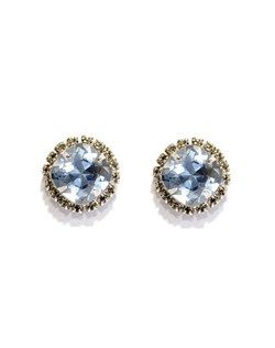 These classic cushion cut studs are perfect for the wedding day and beyond! Included in The Watercolor Collection by Ti Adoro, these earrings feature Blue Shade Swarovski crystal accented with a clear rhinestone bezel. Rhodium metal. Available in several colors! Please select from clear, vintage rose, gold shadow, silk, sky, white opal, pacific opal, amethyst, antique pink, blue opal or violet.
