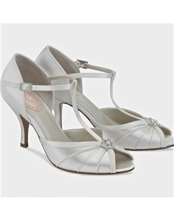"2 3/4"" heel, dyeable white silk satin"