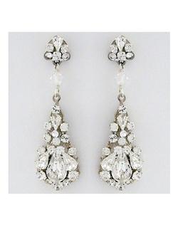 Filigree Crystal Teardrop Earrings