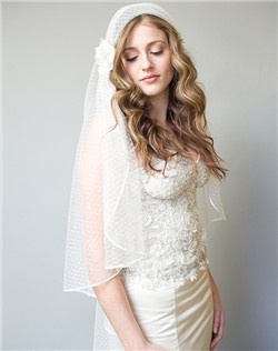 Dotted Embellished Juliet Veil