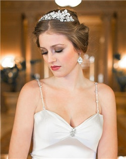 Statement floral  double band tiara