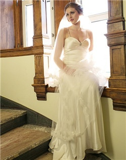 Chapel with lace trim veil