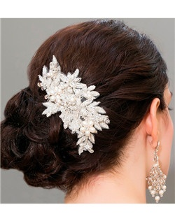 Dimensional Vintage Embroidered Hair Comb