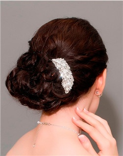 Pave Crystal  Hair Barrette