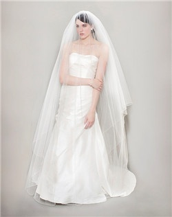 Cathedral Veil with Pencil Beaded Edge