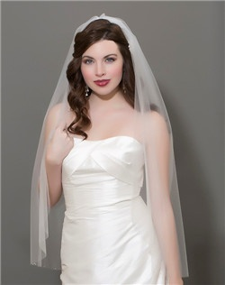 Mirage Tulle with stone border veil