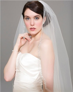 Cathedral Veil with Blizzard Beading