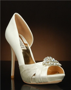 Partial d'orsay heel with crystal embellishment
