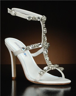 Strappy heel with jeweled embellishments