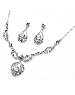 Contemporary design that is hand-crafted with chunky round Genuine Austrian Rhinestones on sterling-silver plate.