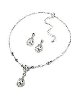 This jewelry set is made of Cubic Zirconia stones that glisten beautifully in the light!