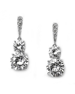These earrings are made with Cubic Zirconia stones.