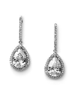 Carmen CZ Earrings are so sleek and modern with their Cubic Zirconia stones.