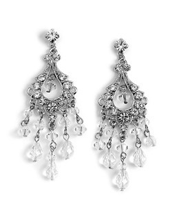 These are drop design earrings with a combination of rhinestones and brilliant Swarovski Crystals.