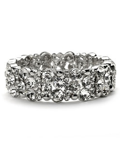 This bracelet is a standard stretch style, and fits most wrist sizes.