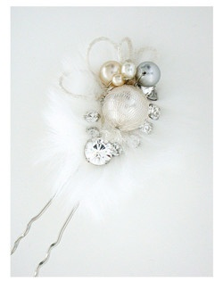 winter wedding, holiday hair pin
