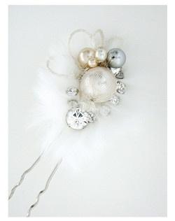 winter wedding, holiday hair pin