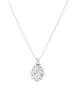 Celebrate the romance of the occasion with the delicate allure of this crystal teardrop pendant. A romantic and delicate crystal teardrop pendant to suit many bridesmaid gowns for a classic romance styled wedding. Due to the simple elegance of this pendant, it can be worn on many occasions after the wedding.