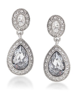 The Jessica Crystal Drop Pierced Earrings