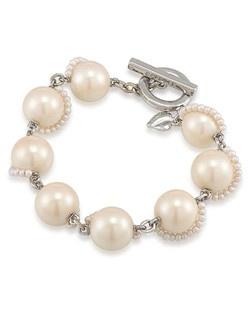 Picnic Pearls Pearl Link Bracelet
