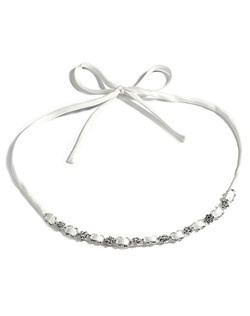 A delicate and simple bridal satin ribbon style headband with both a modern and vintage appeal.