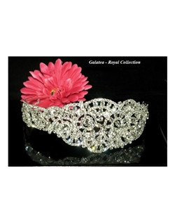 Galatea - Royal collection - Swarovski crystal couture headband