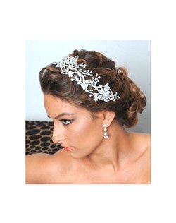 Royal Collection - Kara Stunning swirl swarovski crystal headband