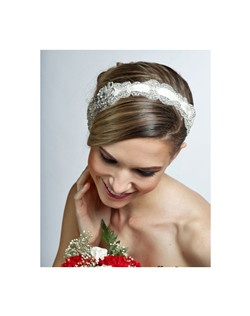 Royal Collection - Sentiment - Beautiful crystal ribbon wedding headband